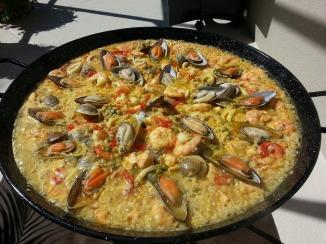 rich-paella- spain paella seafood